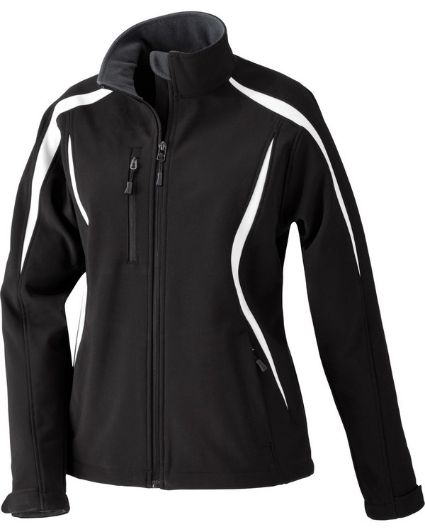 North End 78650 Ladies Enzo Colorblocked Three-Layer Fleece Bonded Soft Shell Jacket