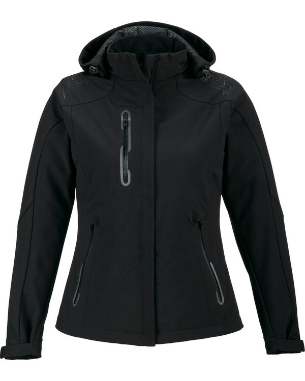 North End 78665 Ladies Axis Soft Shell Jacket with Print Graphic Accents