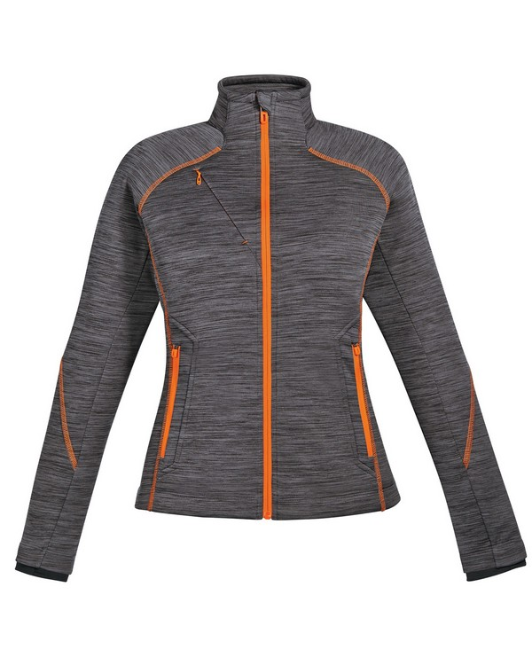 North End 78697 Ladies Flux Melange Bonded Fleece Jacket