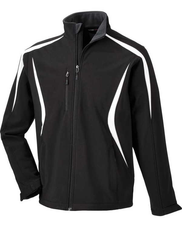 North End 88650 Mens Enzo Colorblocked Three-Layer Fleece Bonded Soft Shell Jacket