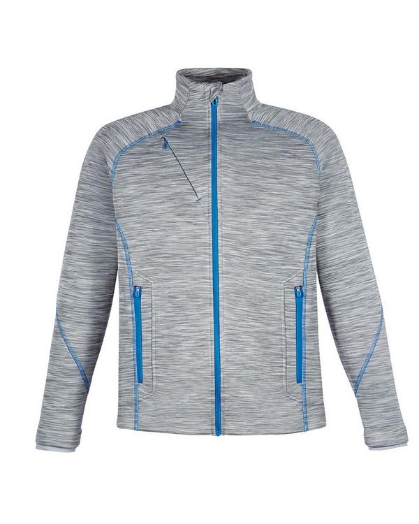 North End 88697 Mens Flux Melange Bonded Fleece Jacket