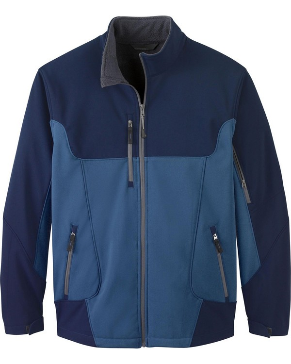 North End 88156 Compass Mens Color-Block Soft Shell Jacket