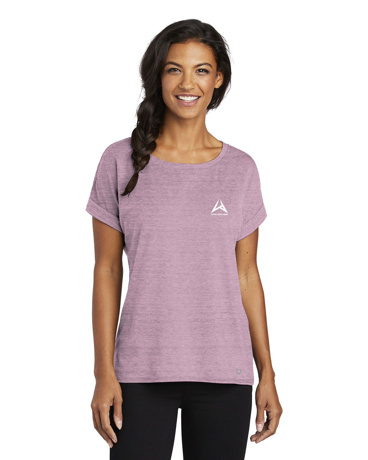Ogio LOG800 Women Luuma Cuffed Short Sleeve