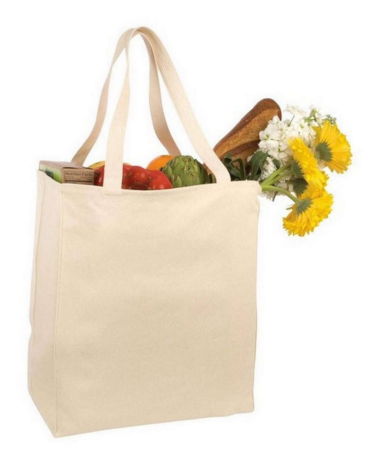 Port Authority B110 Port & Company Over the Shoulder Grocery Tote