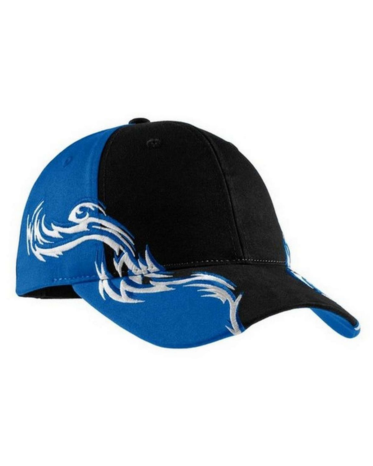 Port Authority C859 Colorblock Racing Cap with Flames