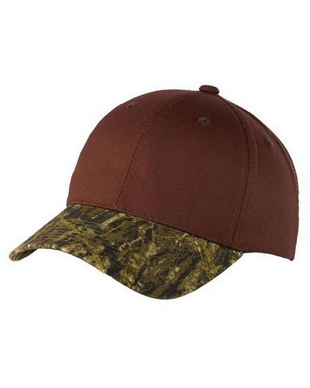 Port Authority C931 Twill Cap with Camouflage Brim