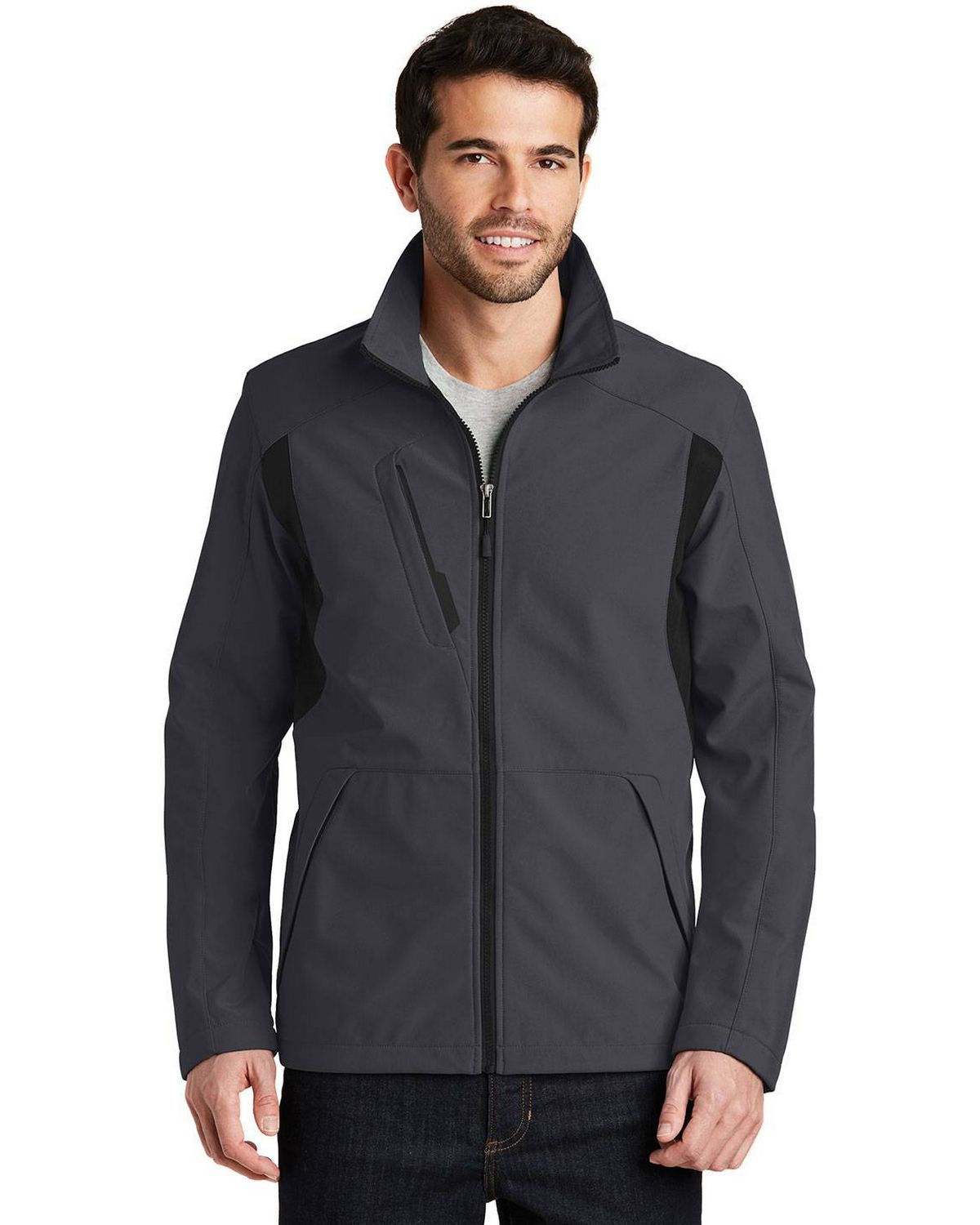 Port Authority J336 Mens Back Block Soft Shell Jacket