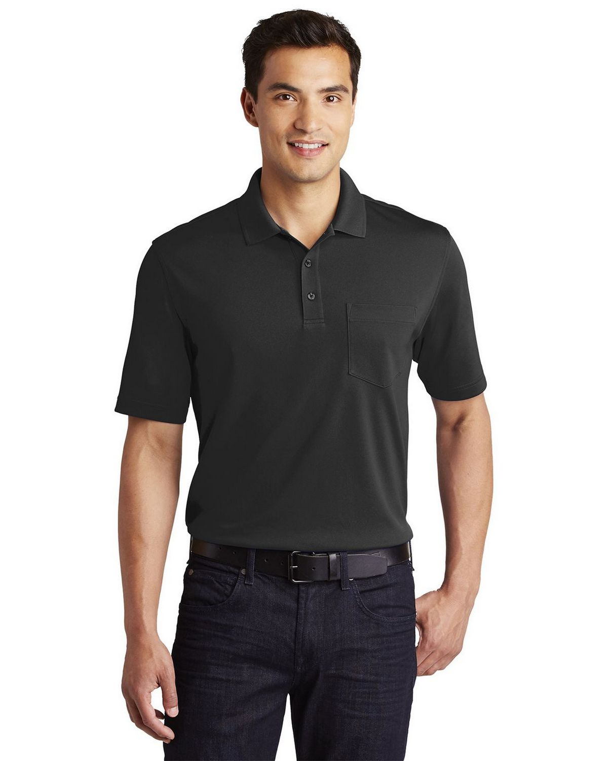 Port Authority K110P Mens Dry Zone UV Micro-Mesh Pocket Polo Shirt