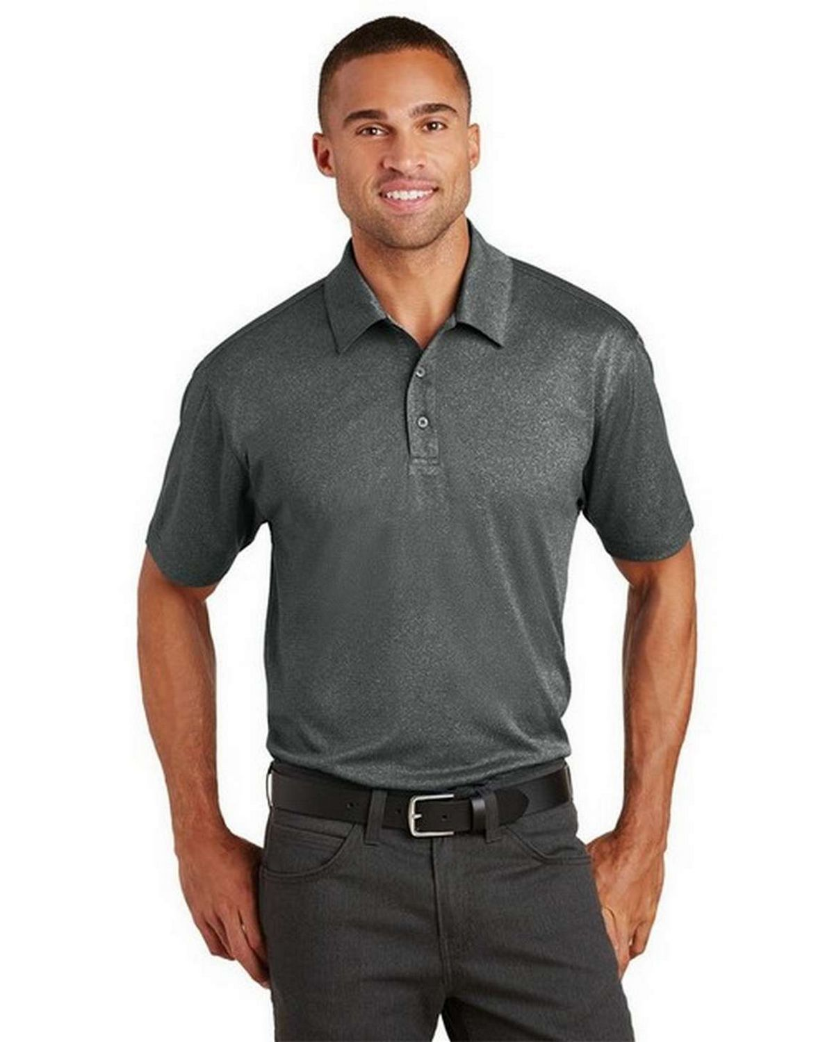 Port Authority K576 Trace Heather Polo