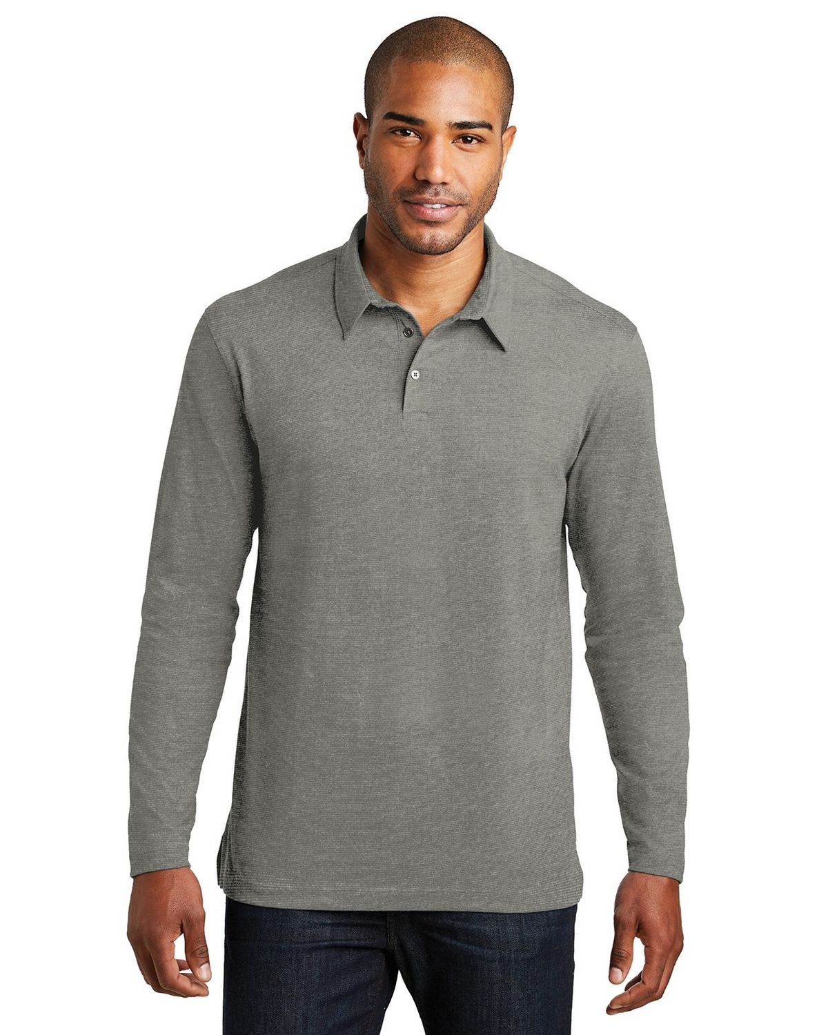 Port Authority K577LS Long Sleeve Meridian Cotton Blend Polo