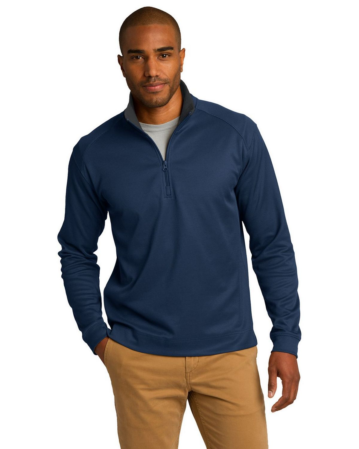 Port Authority K805 Heavyweight Zip Pullover