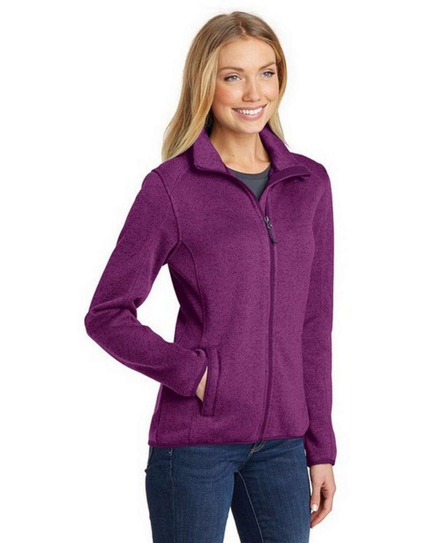 Port Authority L232 Ladies Sweater Fleece Jacket