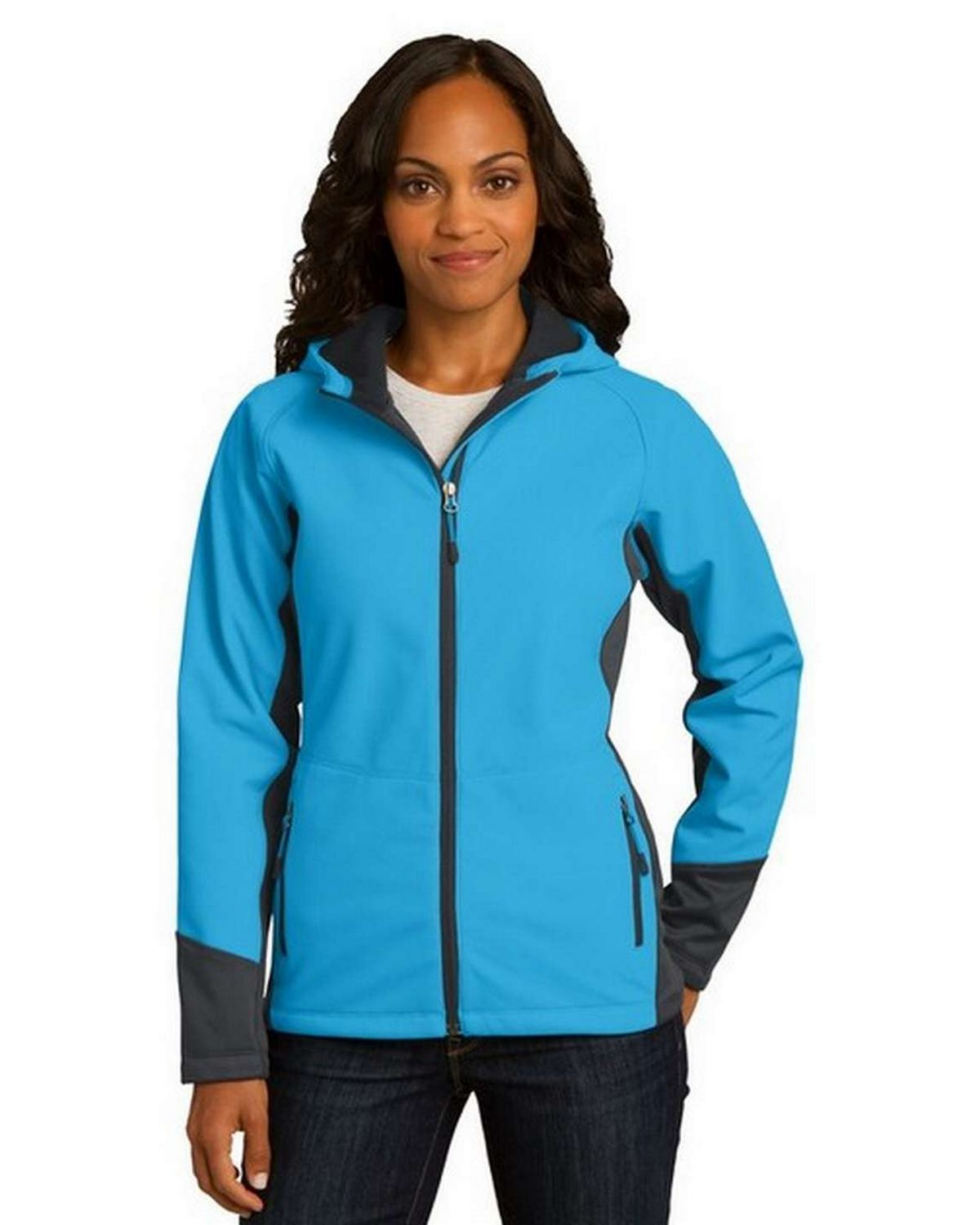 Port Authority L319 Ladies Vertical Hooded Soft Shell Jacket