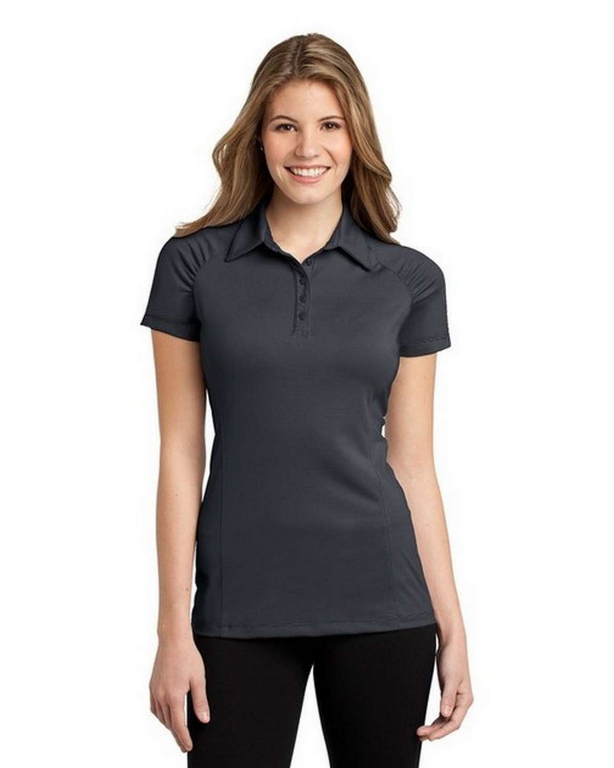Port Authority L558 Ladies Fine Stripe Performance Polo