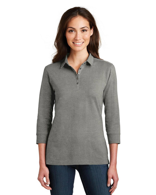 Port Authority L578 Ladies 3/4-Sleeve Meridian Cotton Blend Polo