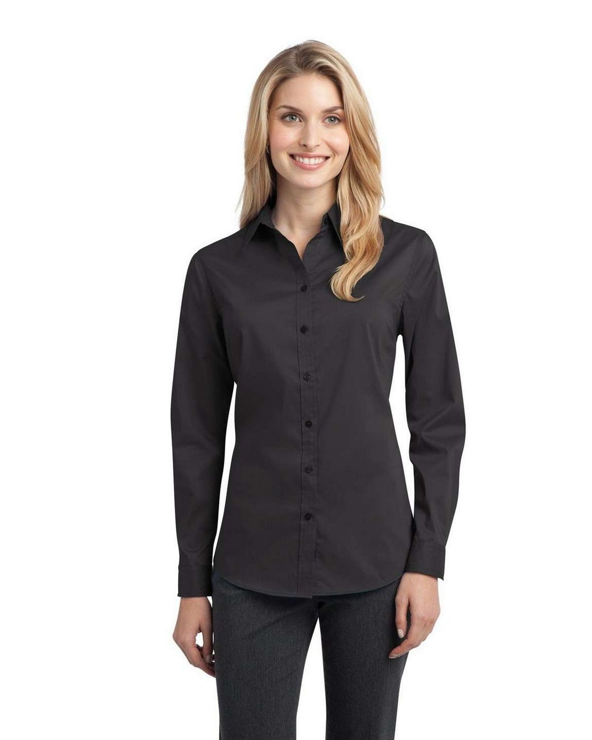 Port Authority L646 Ladies Stretch Poplin Shirt