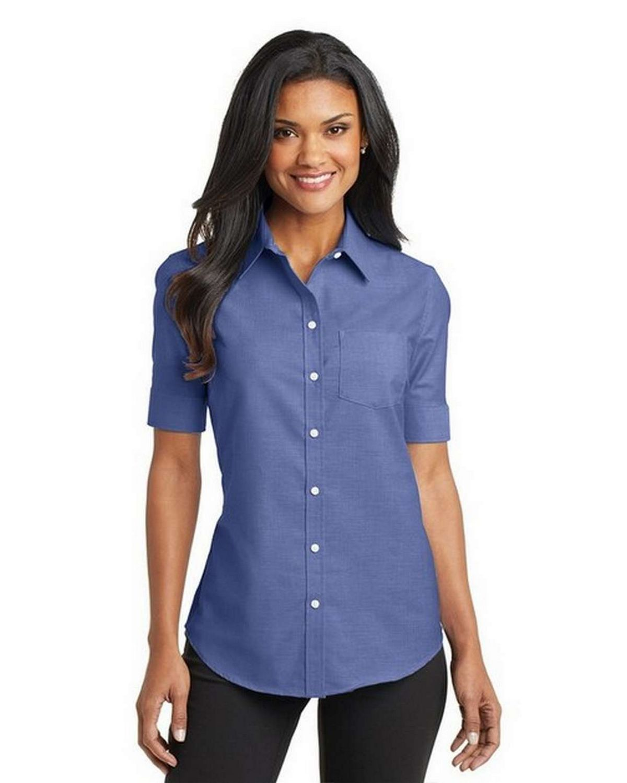 Port Authority L659 Ladies Short Sleeve SuperPro Oxford Dress Shirt