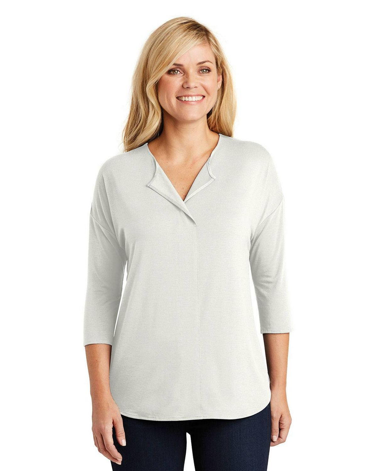Port Authority LK5433 Ladies Concept 3/4 Sleeve Soft Split Neck Top