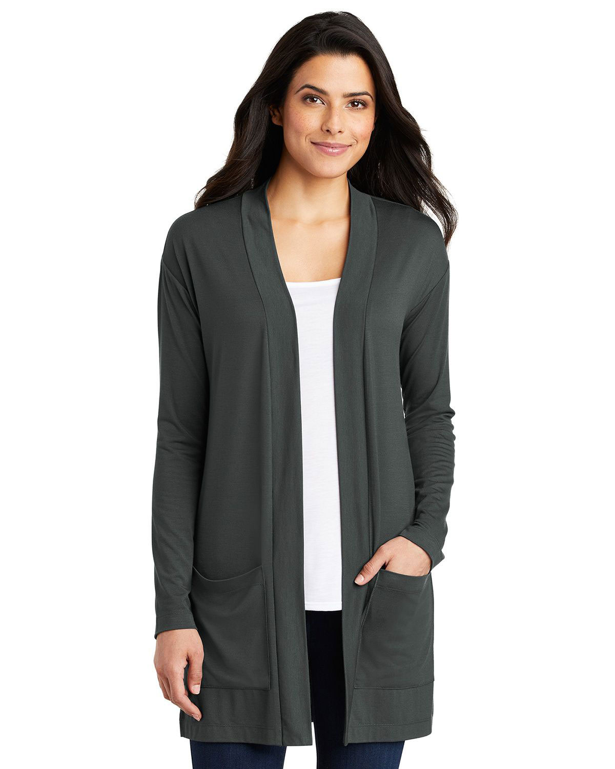 Port Authority LK5434 Women Concept Long Pocket Cardigan