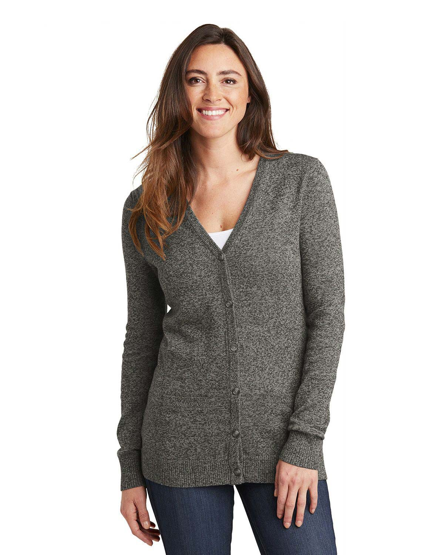 Port Authority LSW415 Women Marled Cardigan Sweater
