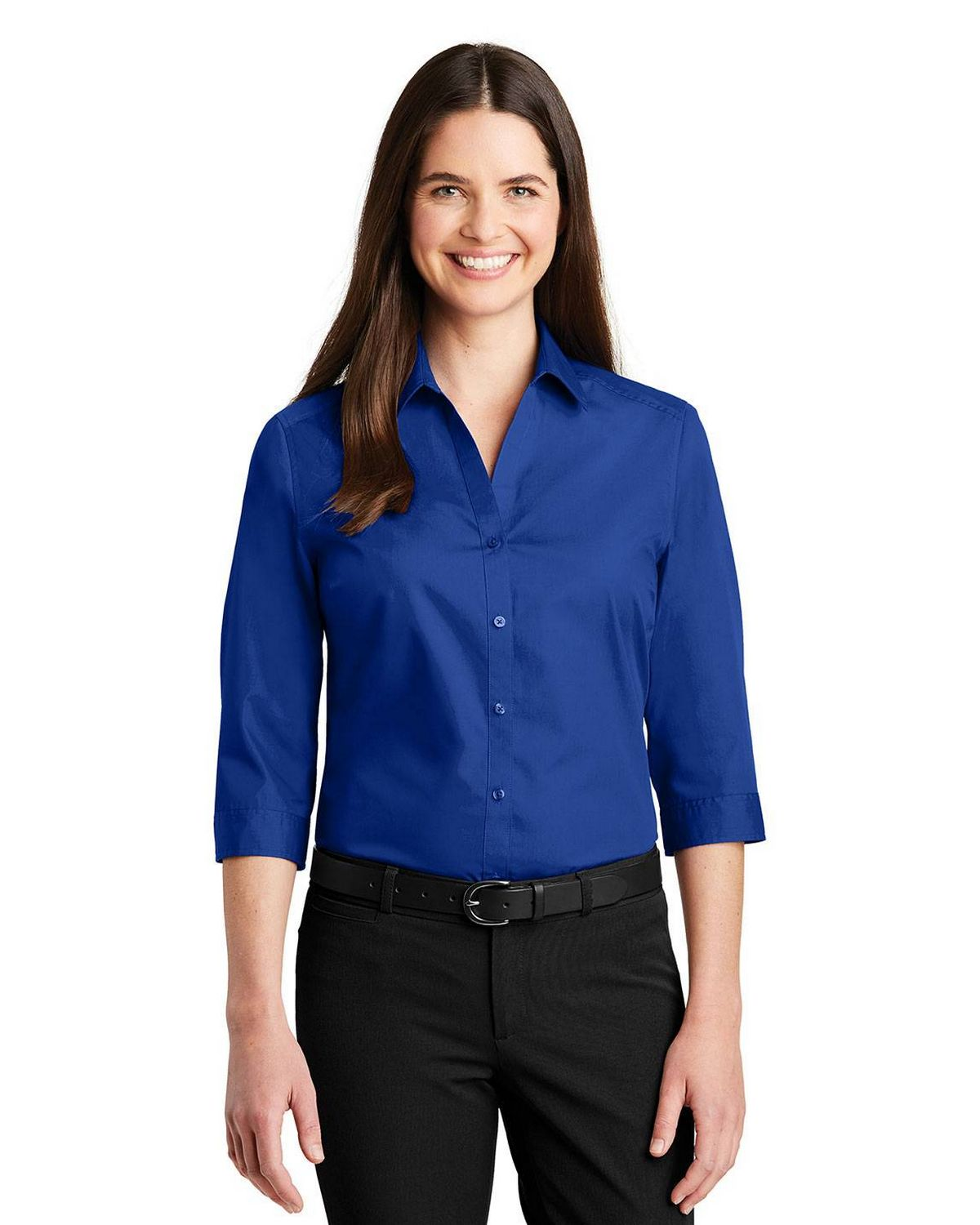 Port Authority LW102 Ladies 3/4 Sleeve Carefree Poplin Shirt