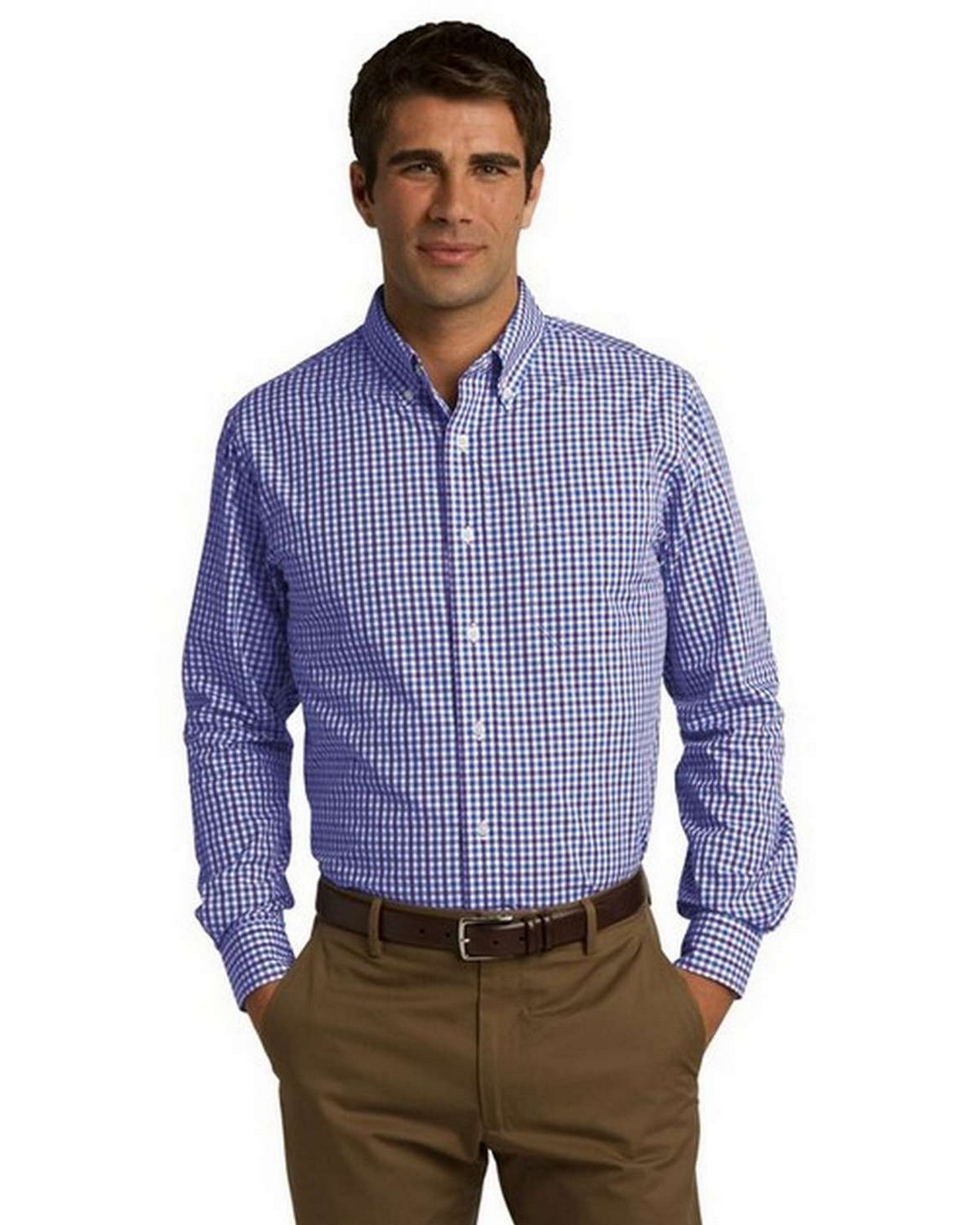 Port Authority S654 Gingham Easy Care Shirt