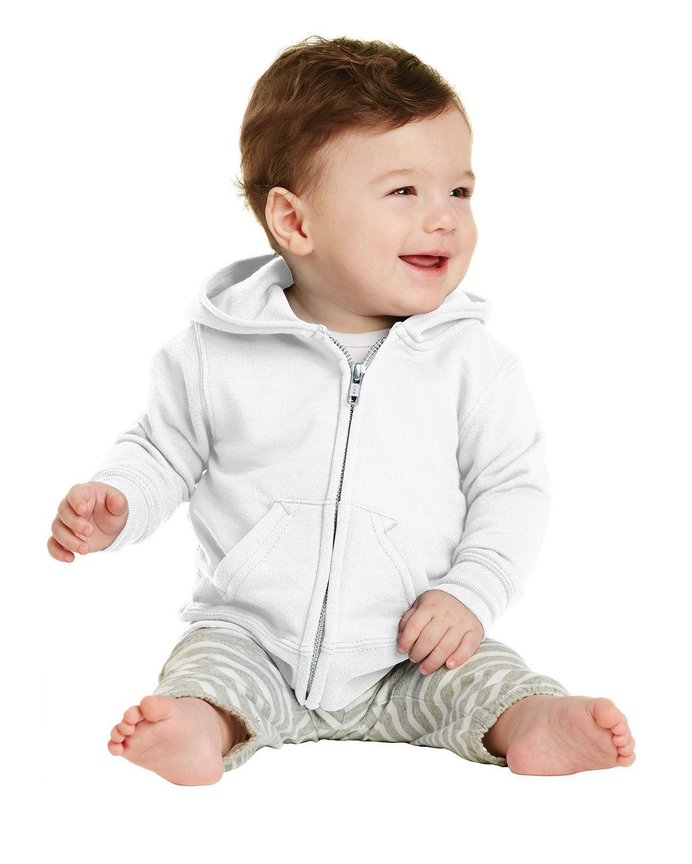 Port & Company CAR78IZH Infant Full-Zip Hooded Sweatshirt