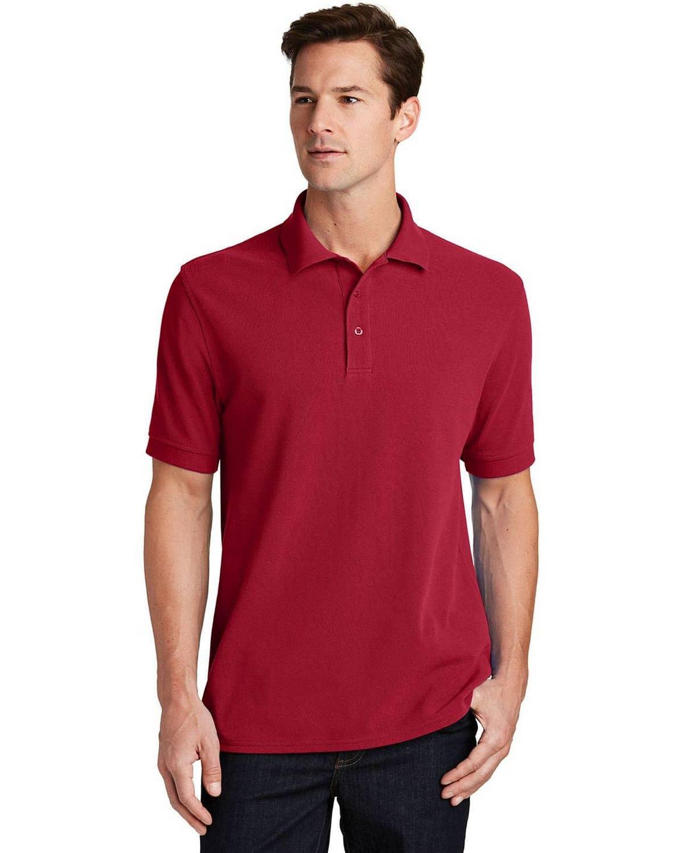 Port & Company KP1500 Mens Ring Spun Pique Polo Shirt