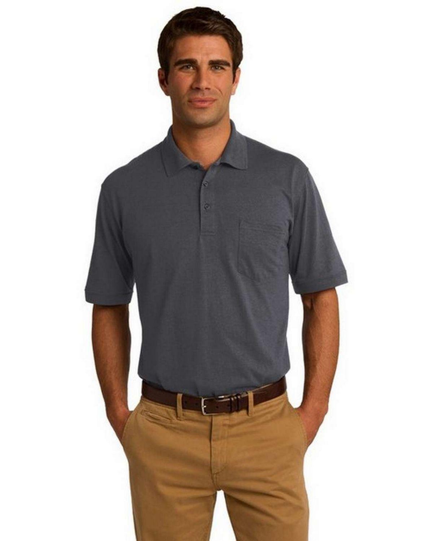 Port & Company KP55P Jersey Knit Pocket Polo