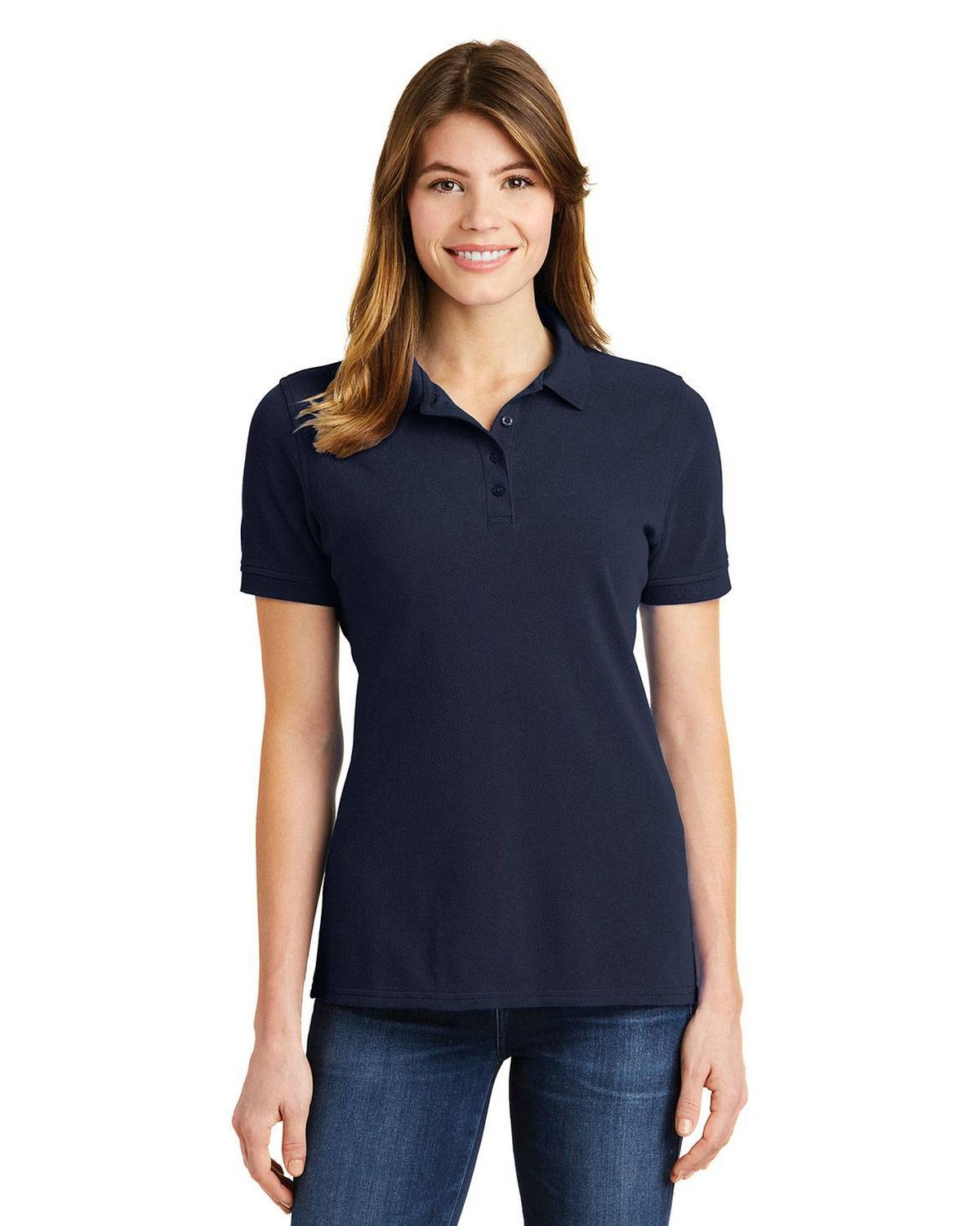 Port & Company LKP1500 Ladies Ring Spun Pique Polo Shirt