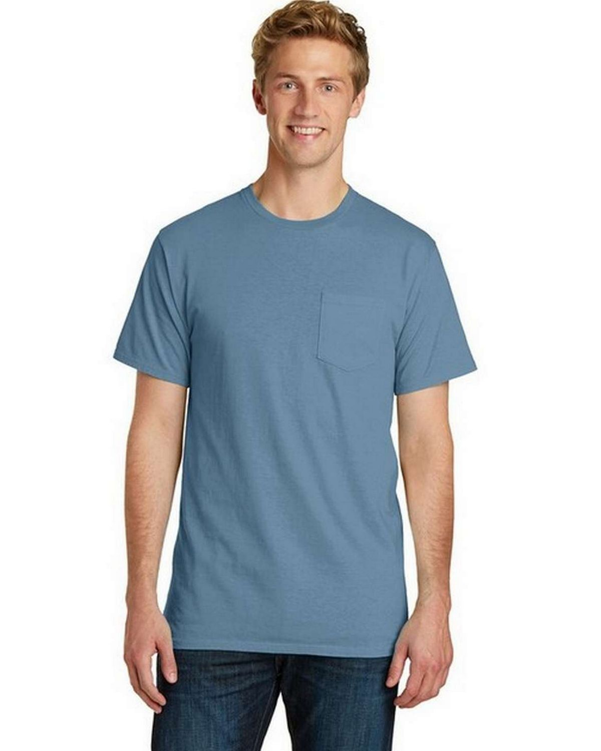 Port & Company PC099P Essential Pigment-Dyed Pocket Tee
