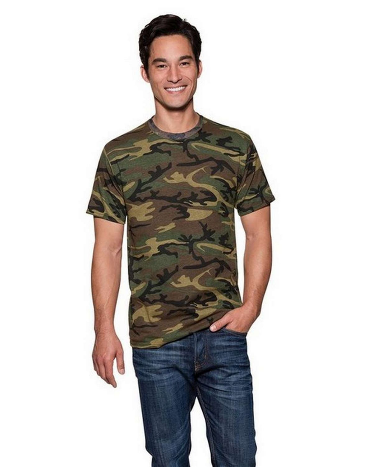 Port & Company PC54C 100% Cotton Camo Tee