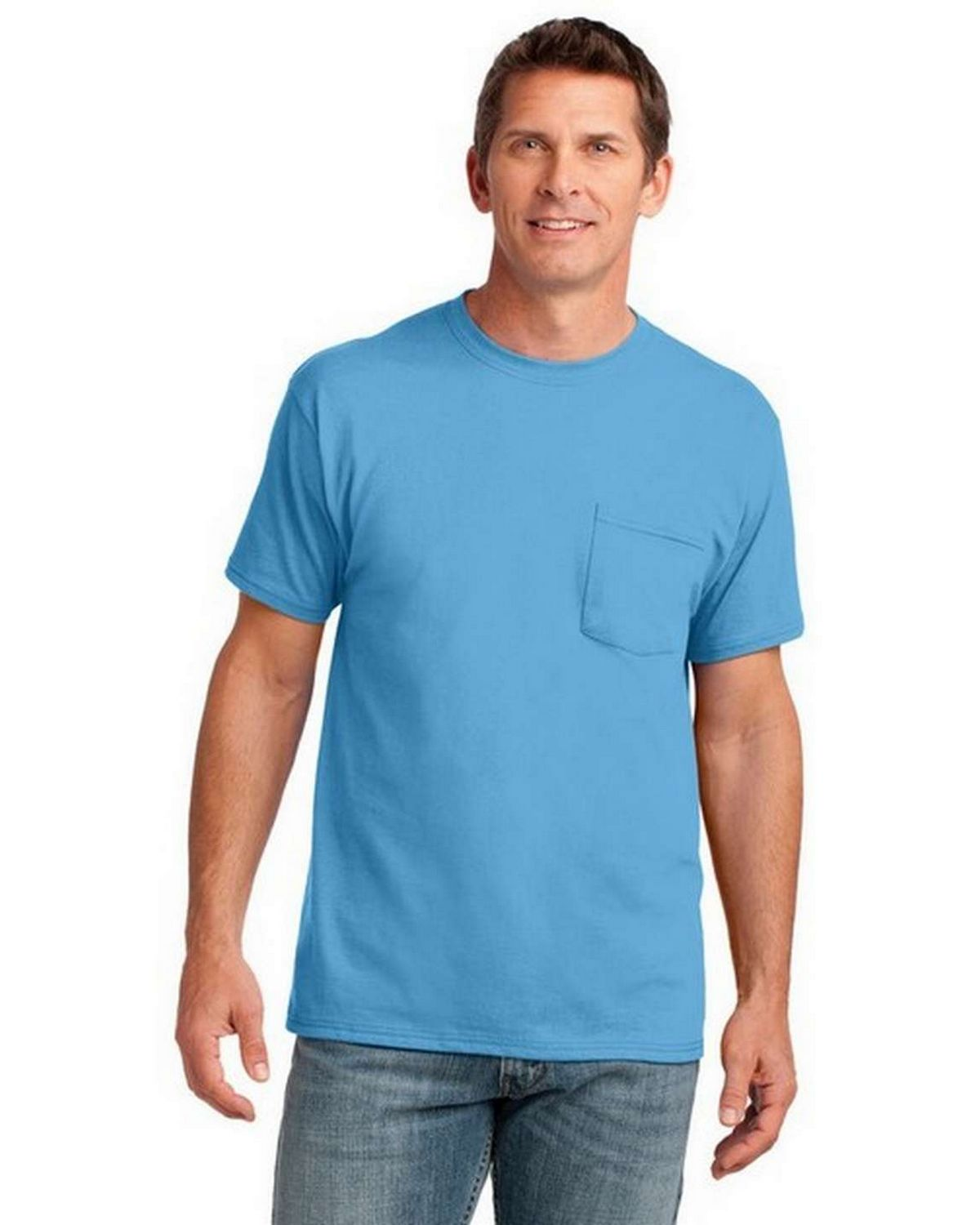 Port & Company PC54P 100% Cotton Pocket T-Shirt