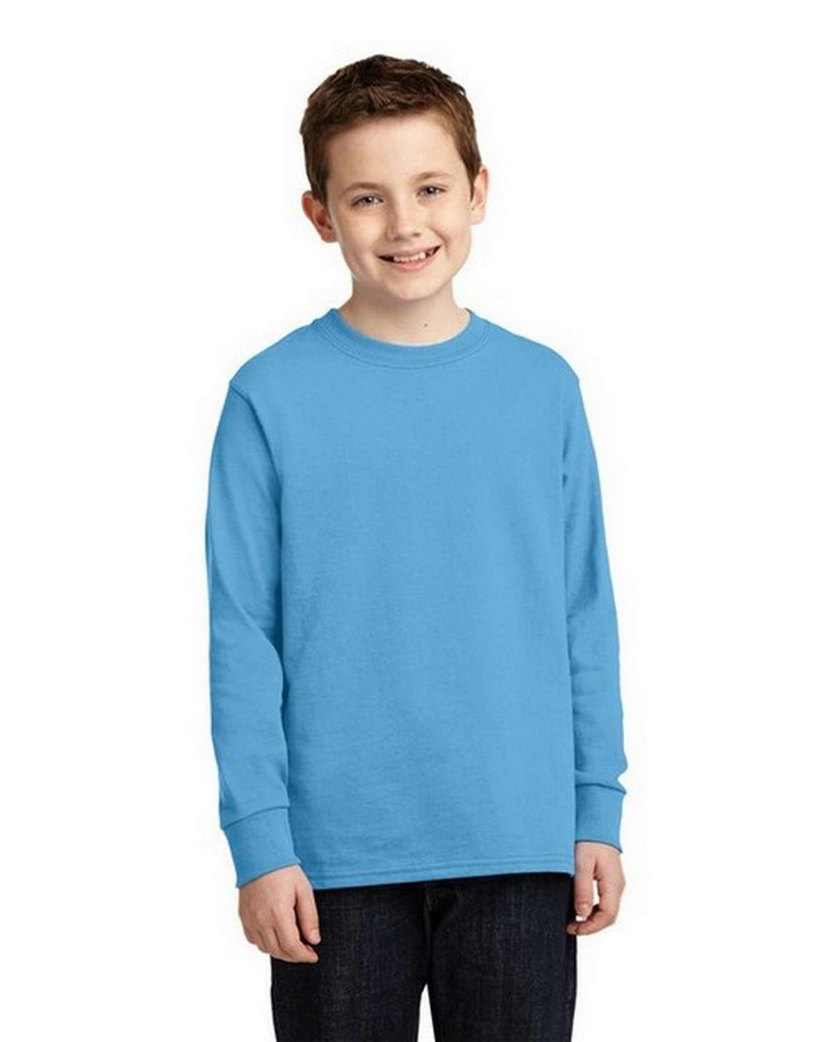 Port & Company PC54YLS Youth Long Sleeve 100% Cotton T-Shirt