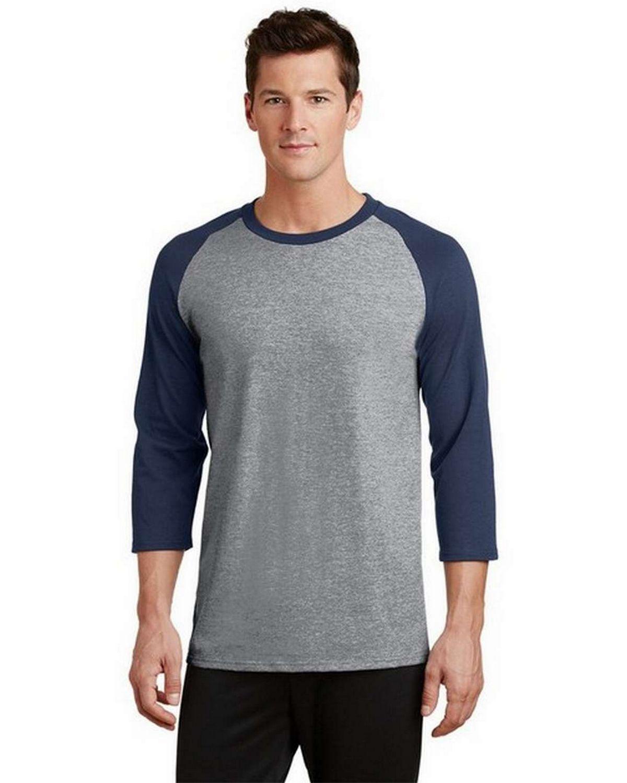 Port & Company PC55RS 50/50 Cotton/Poly 3/4-Sleeve Raglan T-Shirt