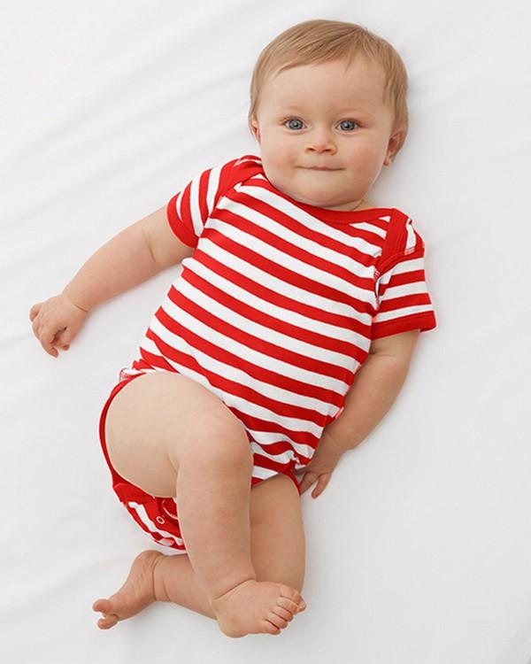 Rabbit Skins 4400 Infants Baby Rib Lap Shoulder Bodysuit