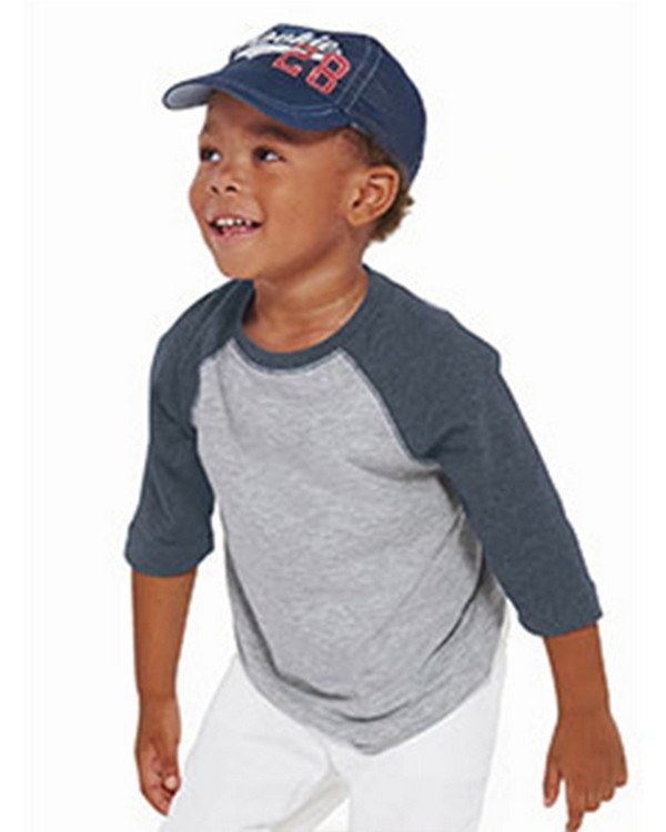 Rabbit Skins RS3330 Toddler Vintage Fine Jersey Baseball T-Shirt