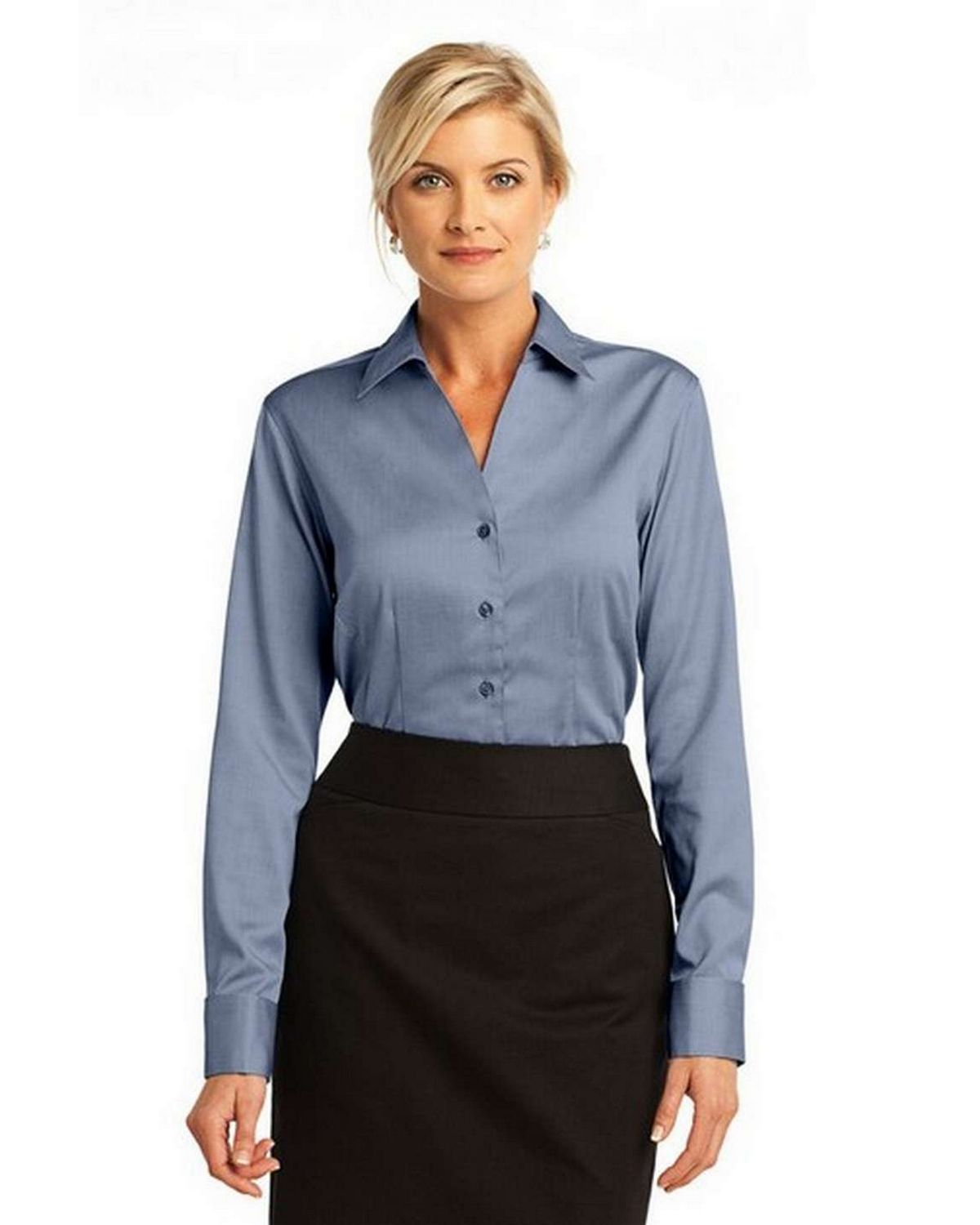 Red House RH63 Ladies Fitted Non-Iron Pin Oxford French Cuff Button Down
