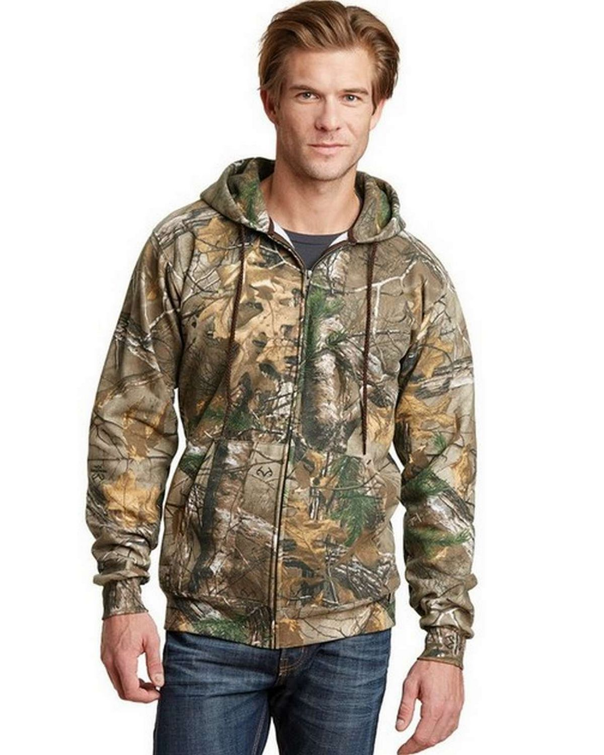 Russell Outdoors RO78ZH s Realtree Full-Zip Hooded Sweatshirt