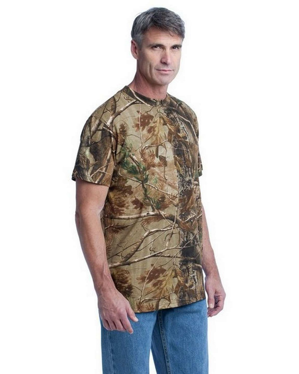 Russell Outdoors S021R Realtree Explorer 100% Cotton T-Shirt with Pocket