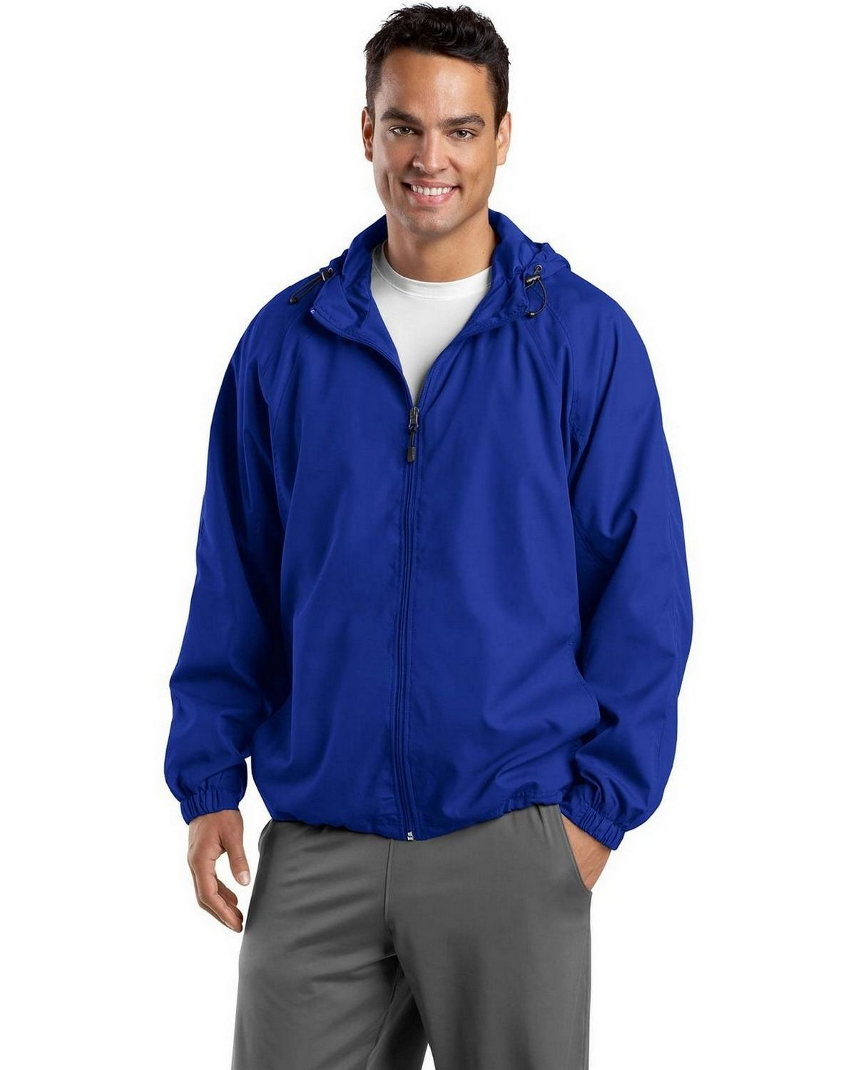 Sport-Tek JST73 Hooded Raglan Jacket