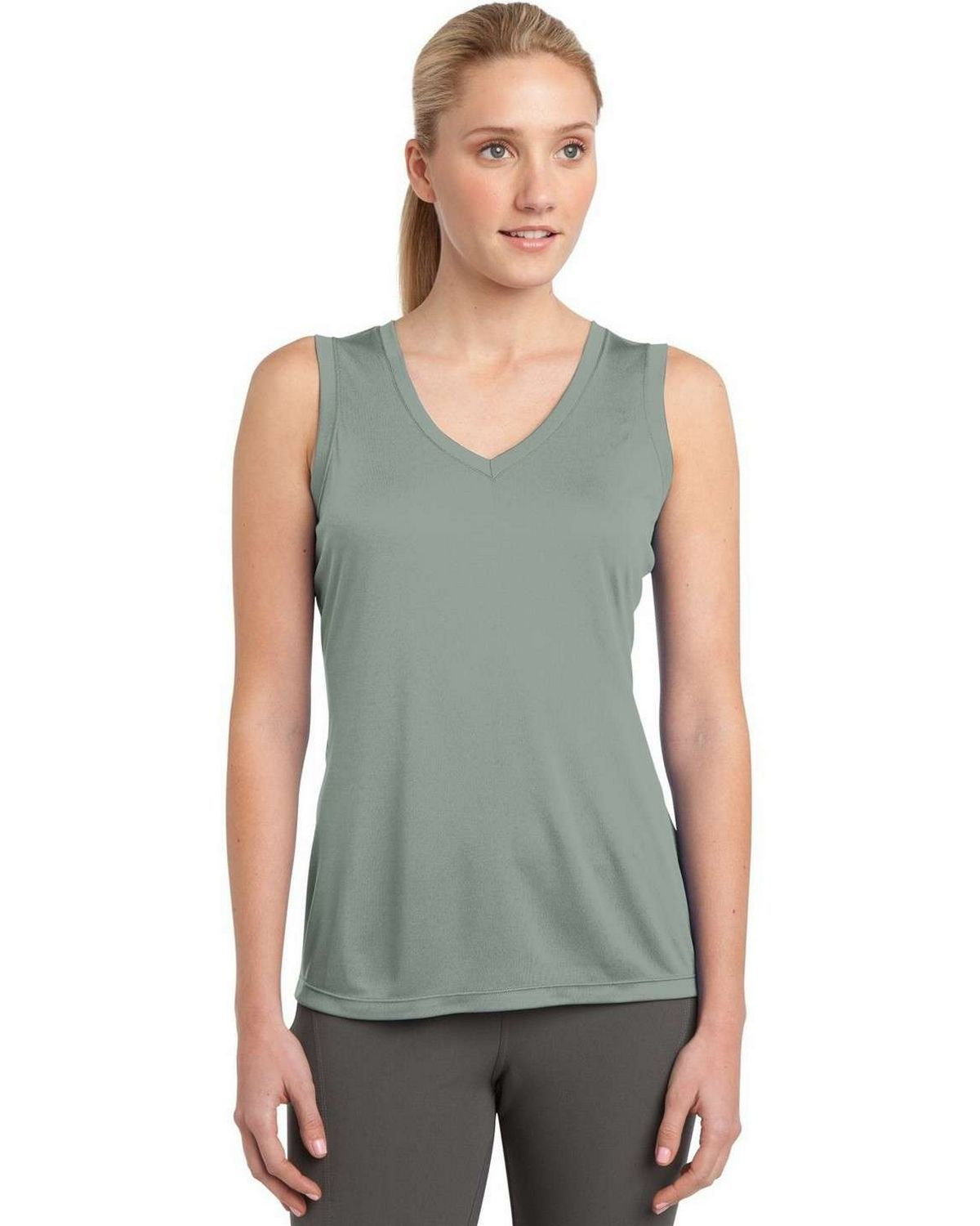 Sport-Tek LST352 Ladies Sleeveless Competitor V-Neck Tee