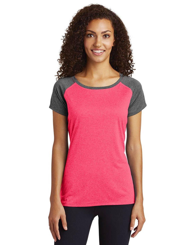 Sport-Tek LST362 Ladies Heather On Heather Contender Scoop Neck T-Shirt