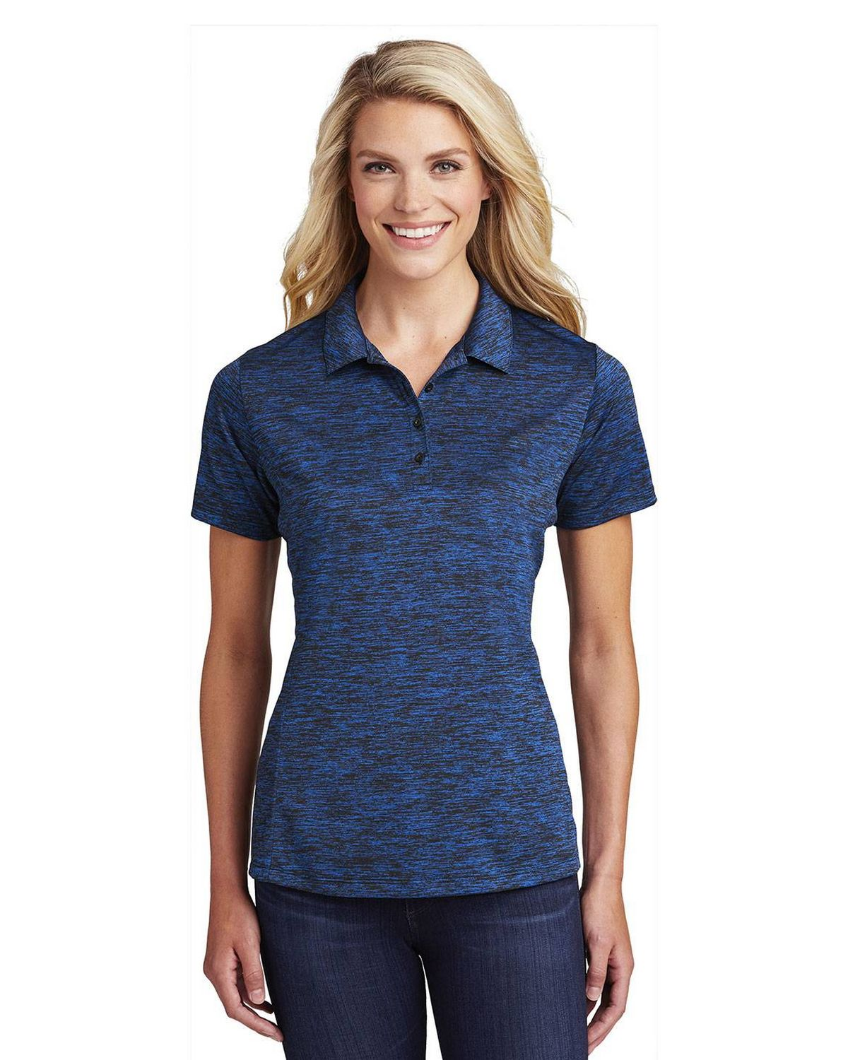 Sport-Tek LST590 Ladies Posi Charge Electric Heather Polo Shirt