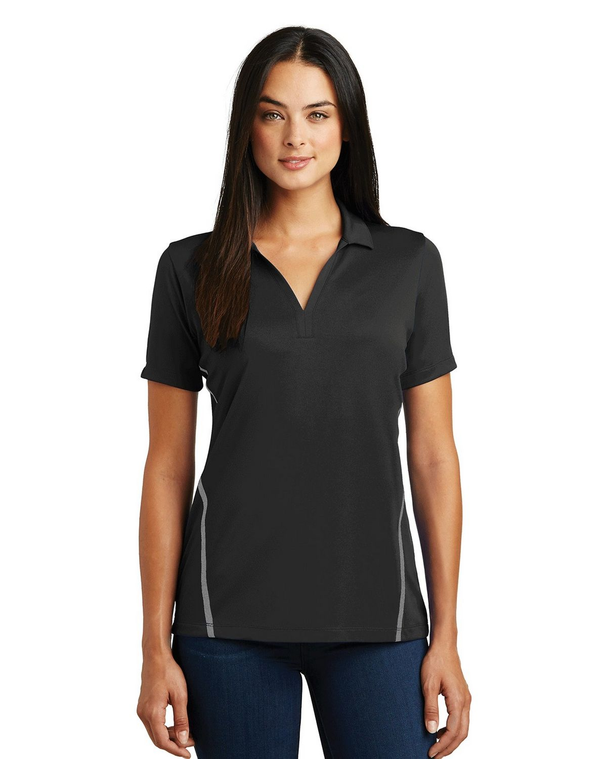 Sport-Tek LST620 Ladies Contrast PosiCharge Tough Polo