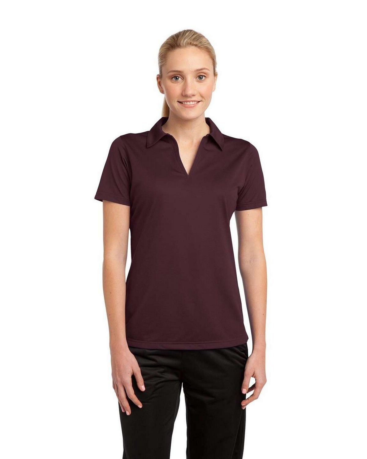 Sport-Tek LST690 Ladies Active Textured Polo