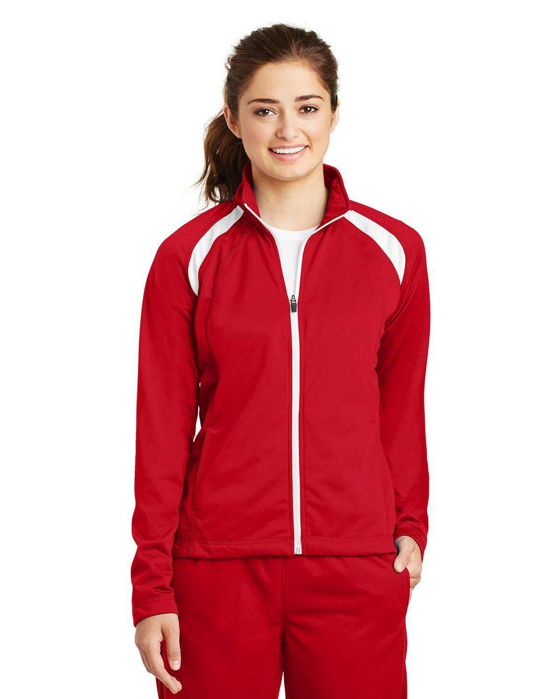 Sport-Tek LST90 Ladies Tricot Track Jacket