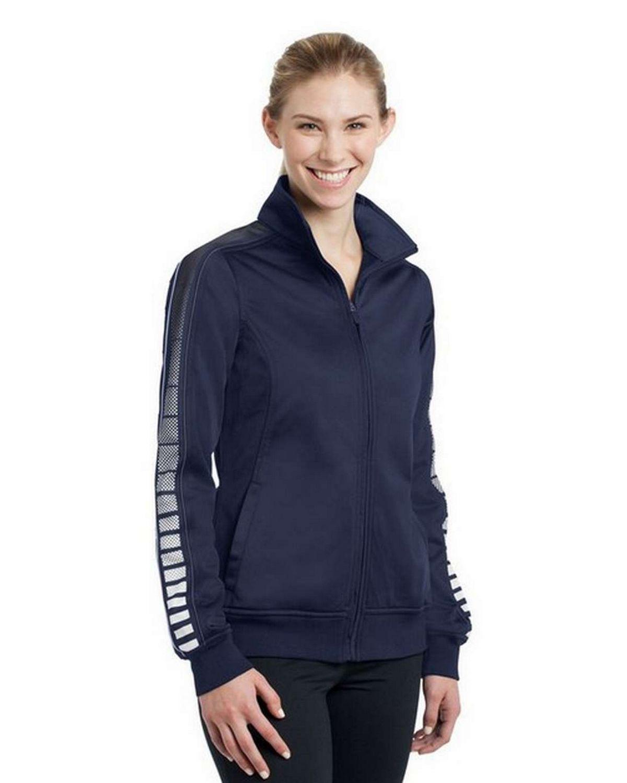 Sport-Tek LST93 Ladies Dot Sublimation Tricot Track Jacket