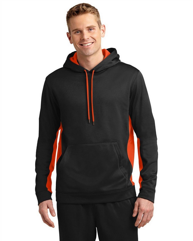 Sport-Tek ST235 Sport-Wick Fleece Colorblock Hooded Pullover