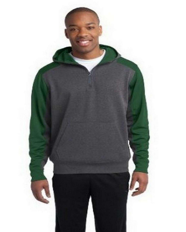Sport-Tek ST249 Colorblock Tech Fleece 1/4-Zip Hooded Sweatshirt